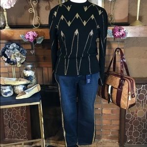 VINTAGE SWEATER (12); CHARTER CLUB JEANS NWT (14P)